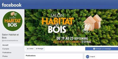 page facebook du salon habitat et bois